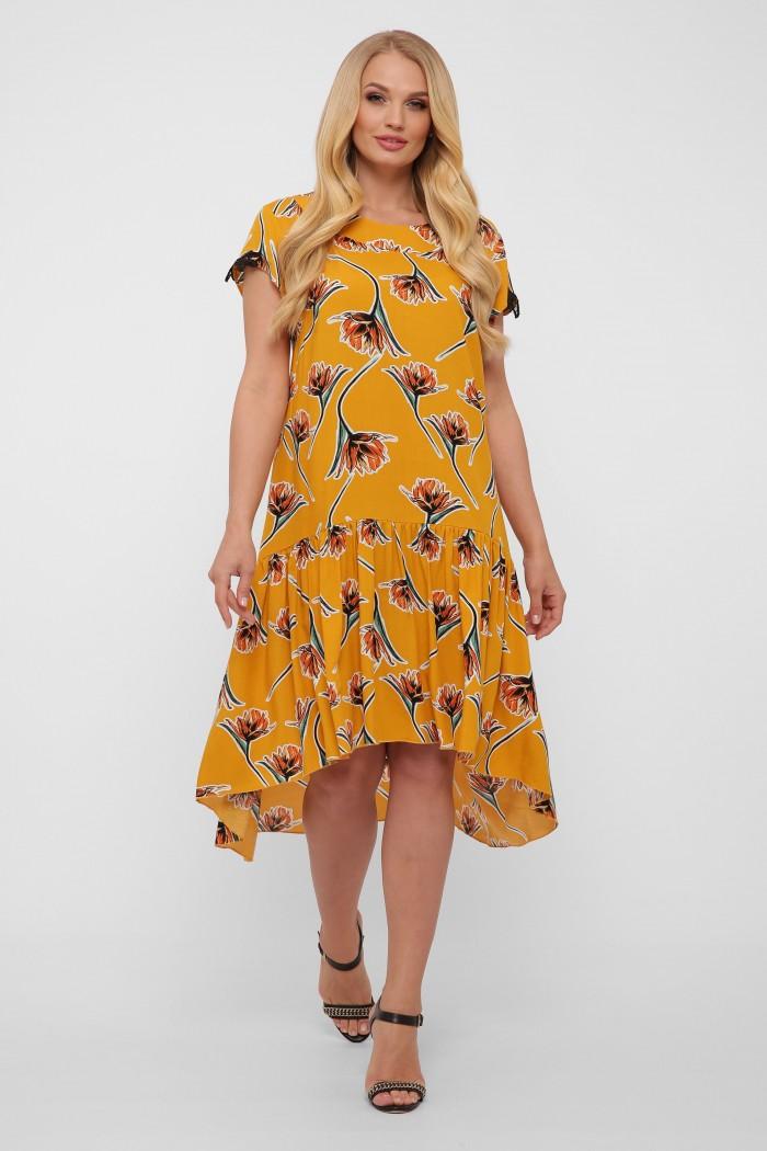 Платье Герда горчица