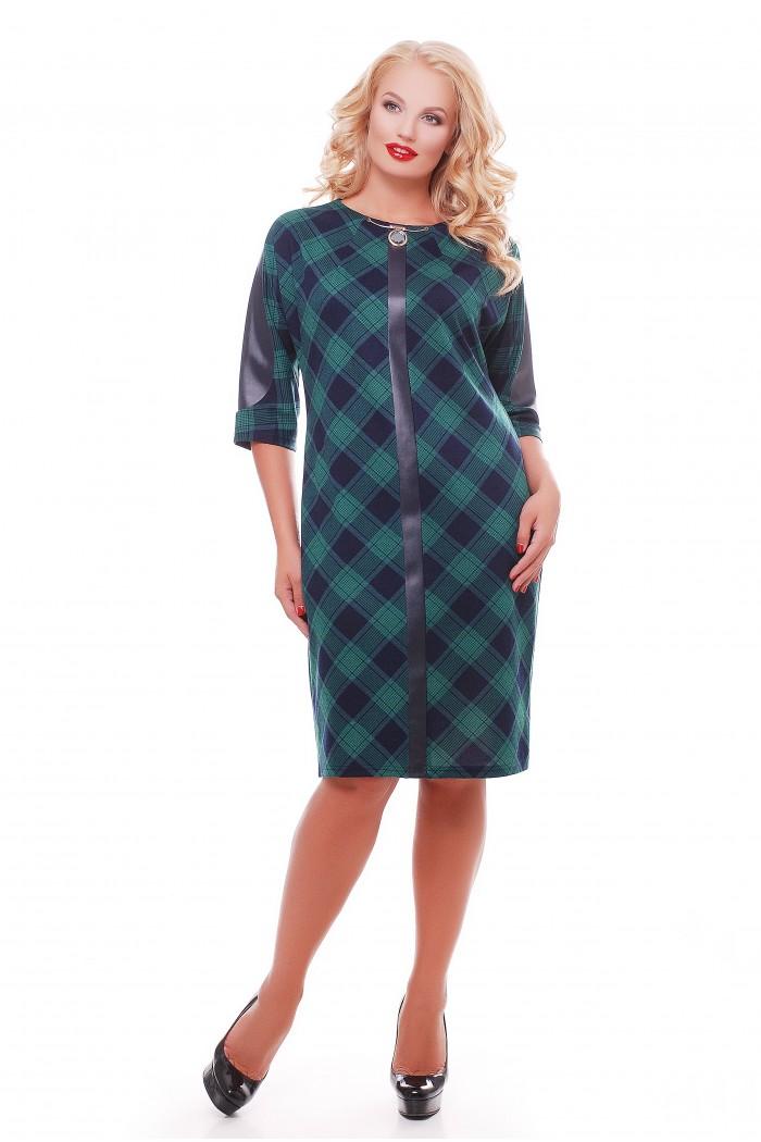 Платье Кэтлин Зеленое клетка