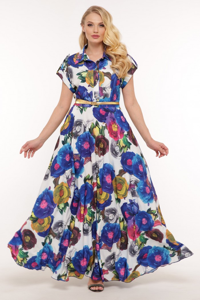 Платье Алена цветы