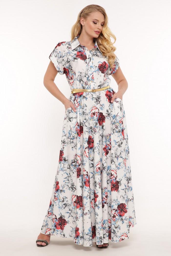 Платье Алена белое