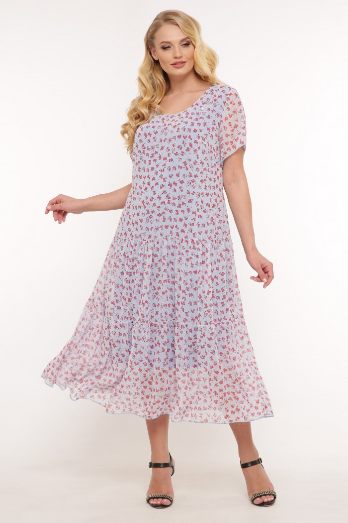 Платье Катаисс голубое