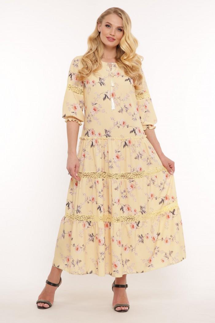 Платье Анна желтое