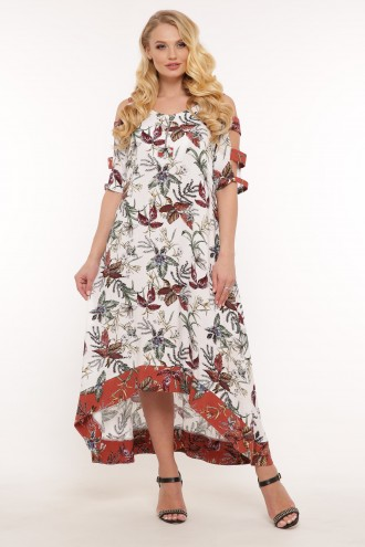 Платье Тропикана цветы