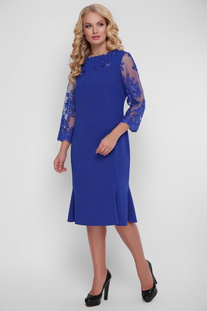 Романтическое платье Аннэт электрик