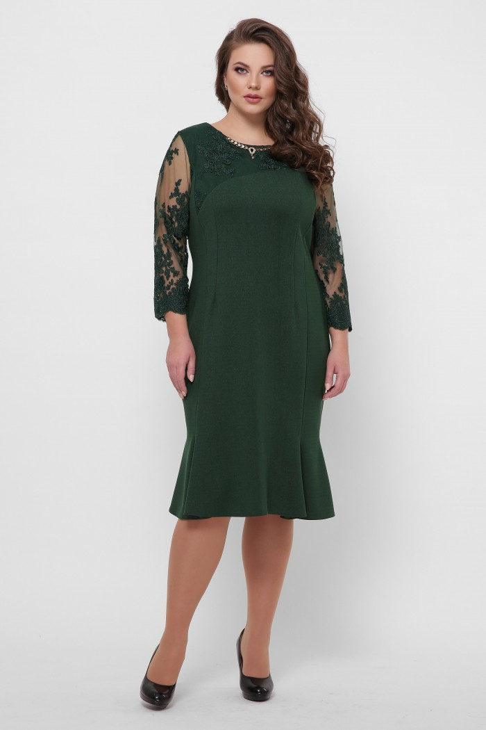Романтическое платье Аннэт изумруд