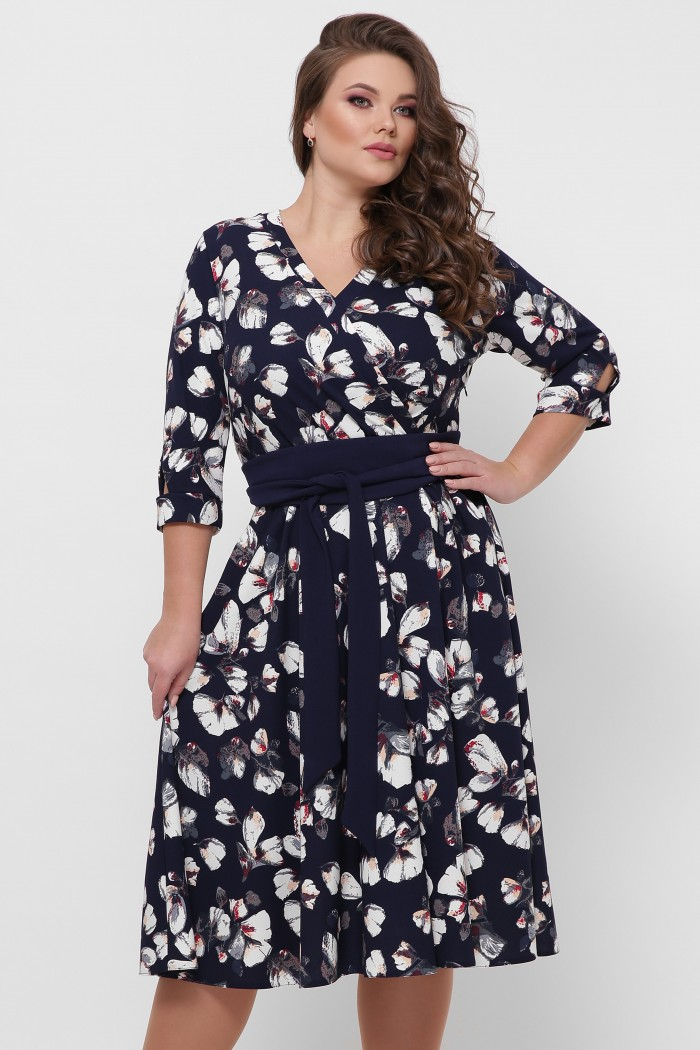 Платье расклешенное Луиза цветы