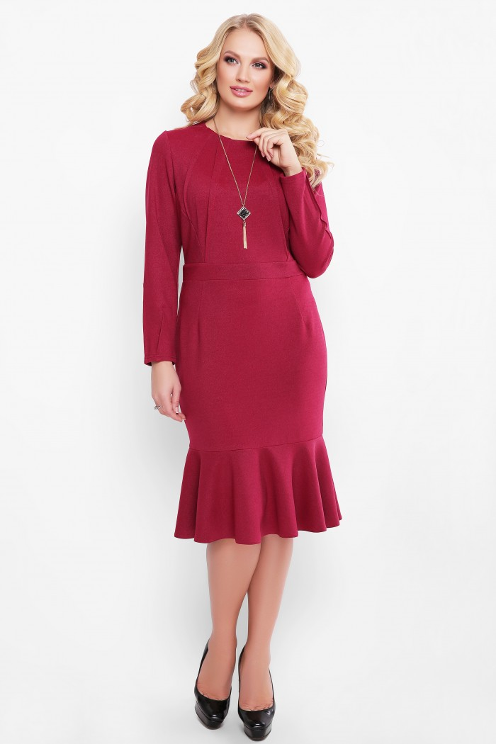 Платье Роми бордо