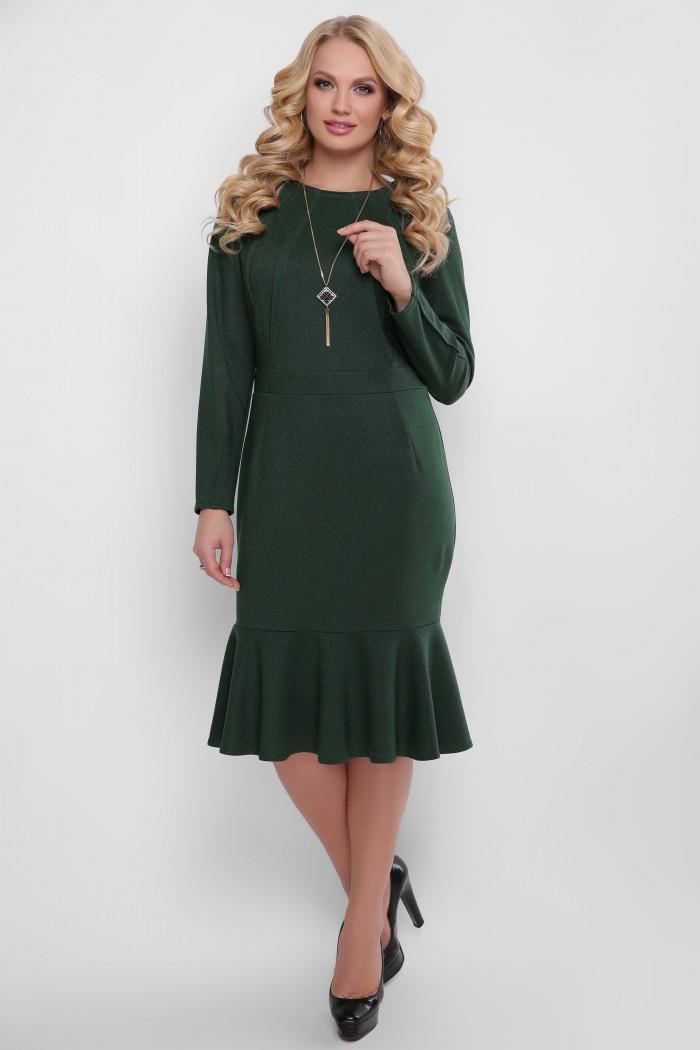 Платье Роми изумруд
