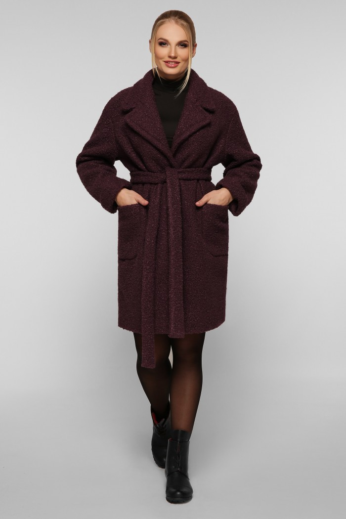 Женское пальто Ксюша марсала