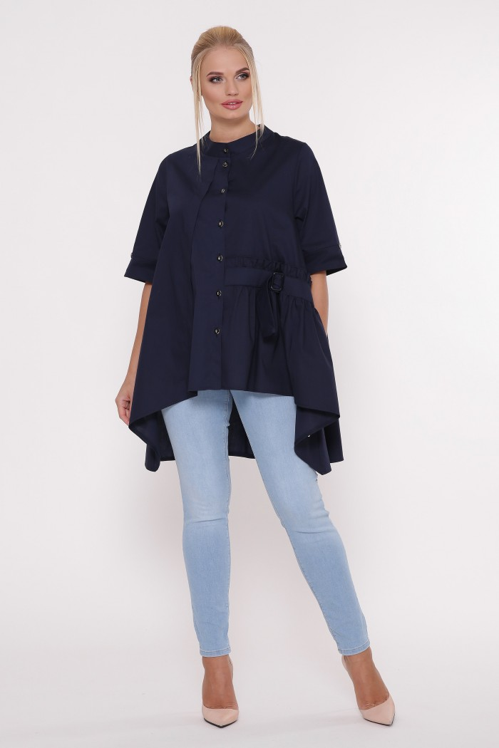 Рубашка женская Уля синяя