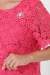 Платье кружевное Элен коралл
