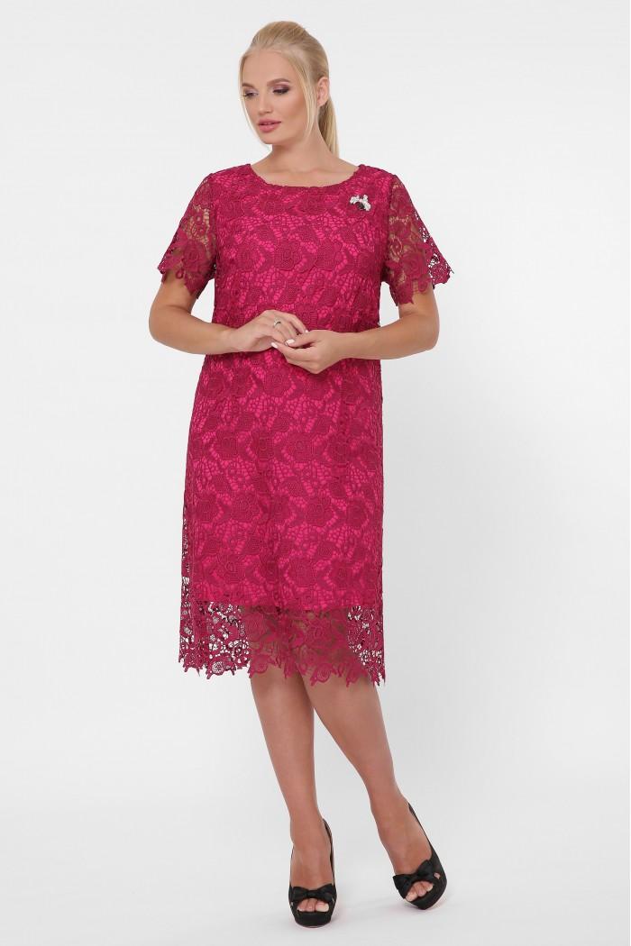 Платье кружевное Элен марсала
