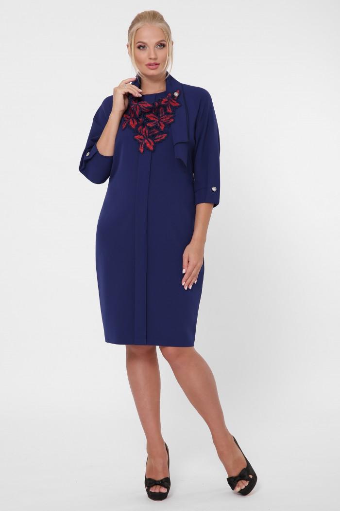 Стильное платье женское Элиза синее