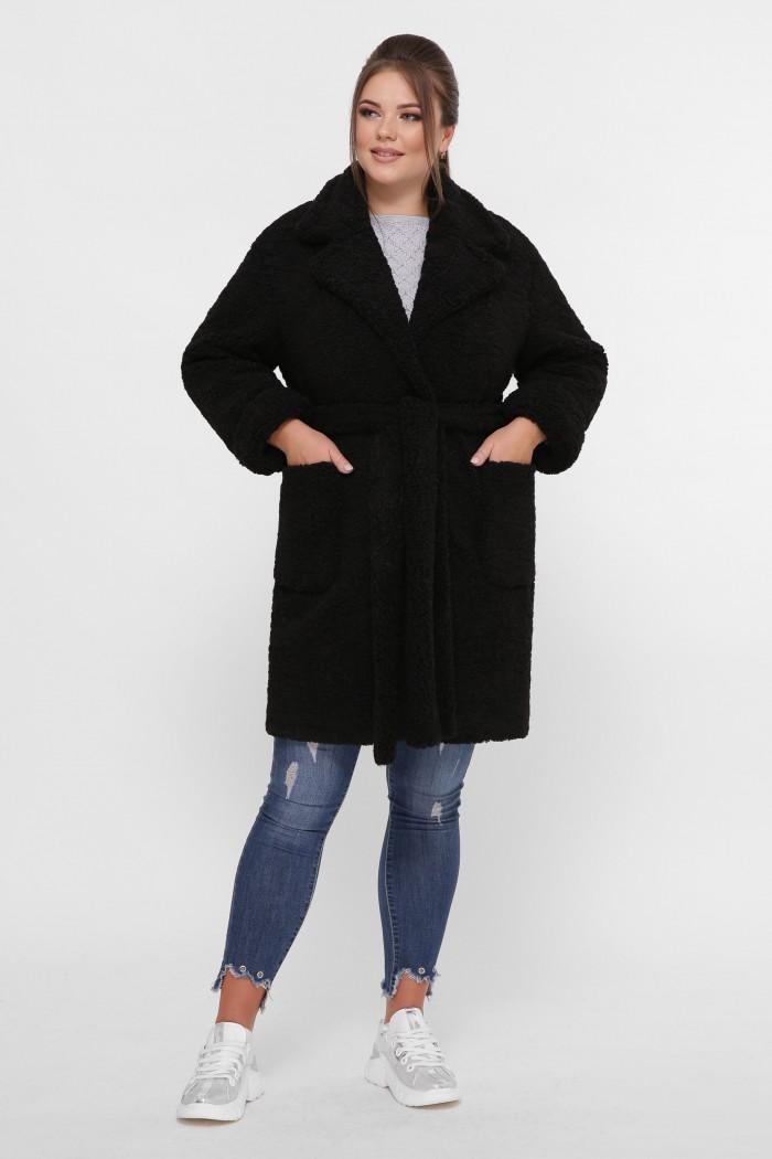 Женское пальто Ксюша черное