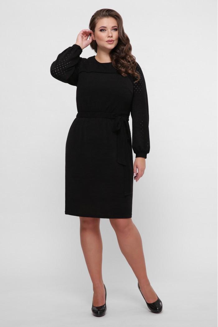 Платье вязаное Эмили черное