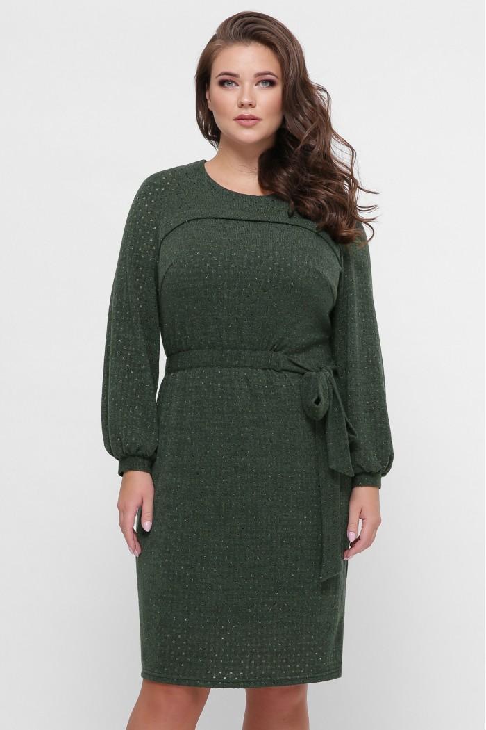 Платье вязаное Эмили зеленое