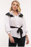Блуза нарядная Франческа белая
