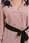 Блуза нарядная Франческа пудра