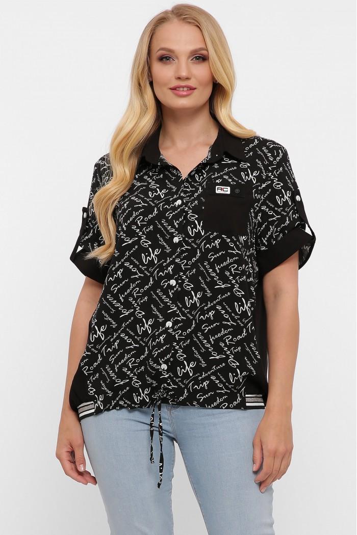 Рубашка Белинда черное