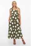 Платье Тала  зеленое горох