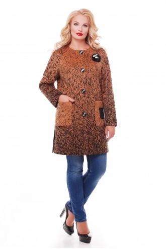 Женское пальто кашемир горчица