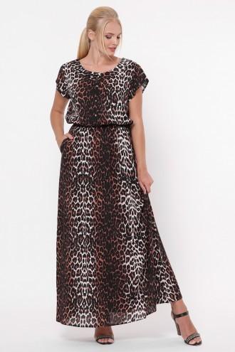 Платье Влада темный леопард