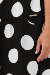 Платье Тала  черное горох