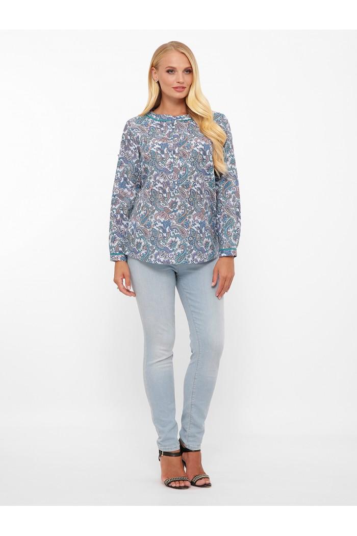 Блуза женская Бэтти голубой