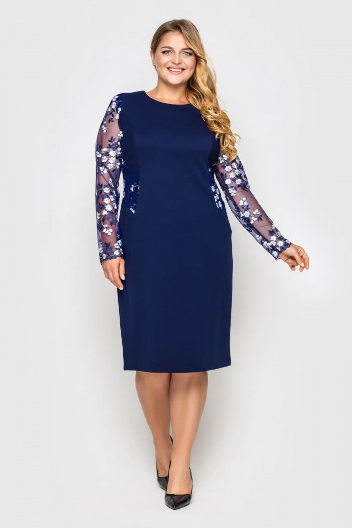 Нарядное платье Адель синее