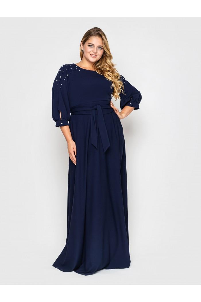 Платье Вивьен синее