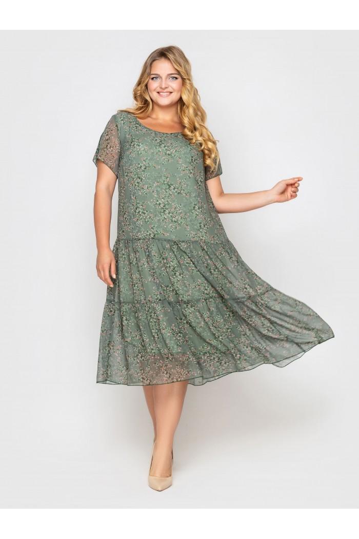 Платье Катаисс оливка