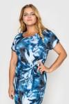 Платье Белла голубое акварель