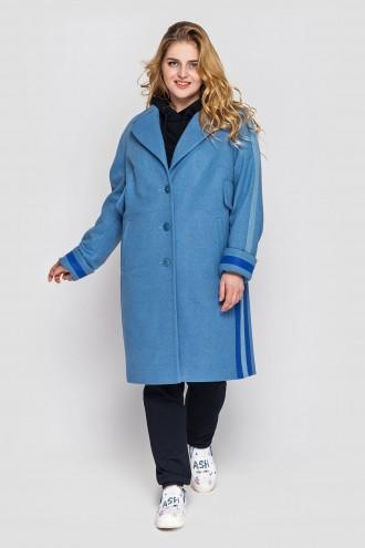 Пальто Эжен голубое