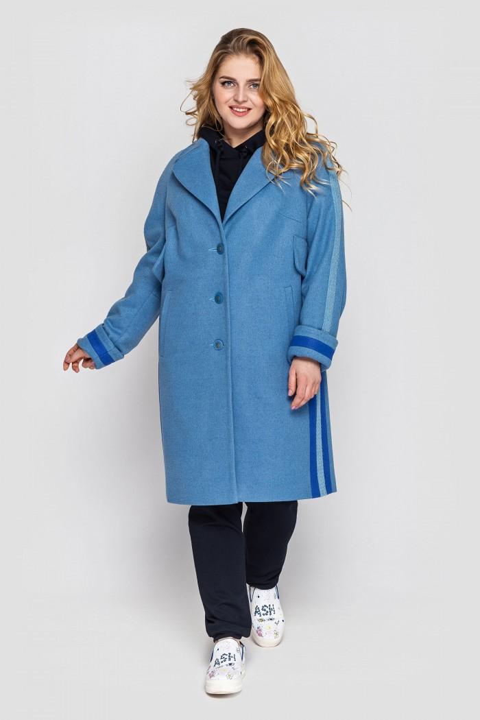 Пальто женское свободного стиля Алеся деним