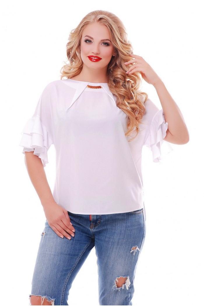 Блуза Анастасия  Белая