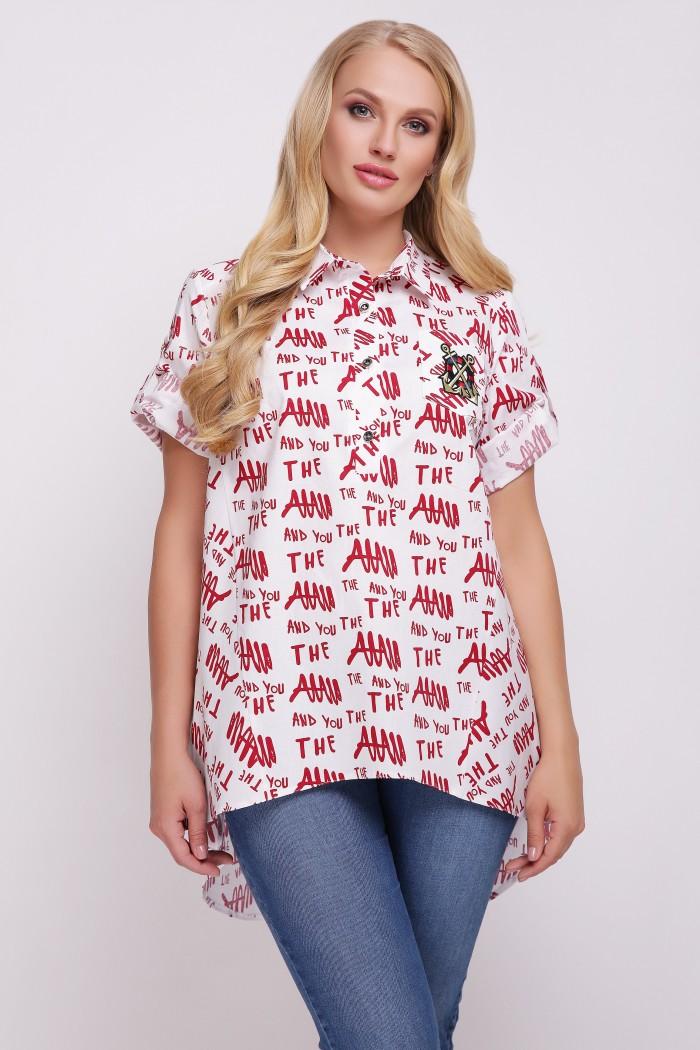 Рубашка Ангелина Красная Газета