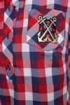 Рубашка Ангелина Красная Клетка