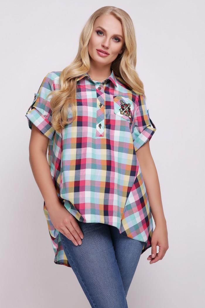 Рубашка Ангелина Разноцветная