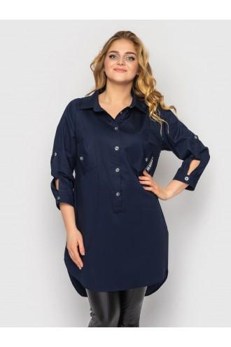 Рубашка Стиль Синяя