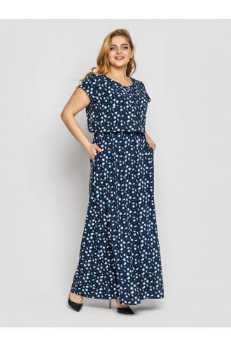 Платье Влада синее камни