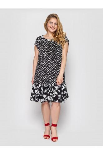Платье Яначерно-белое