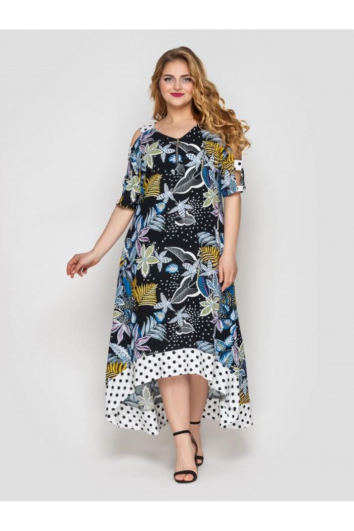 Платье Тропикана черное