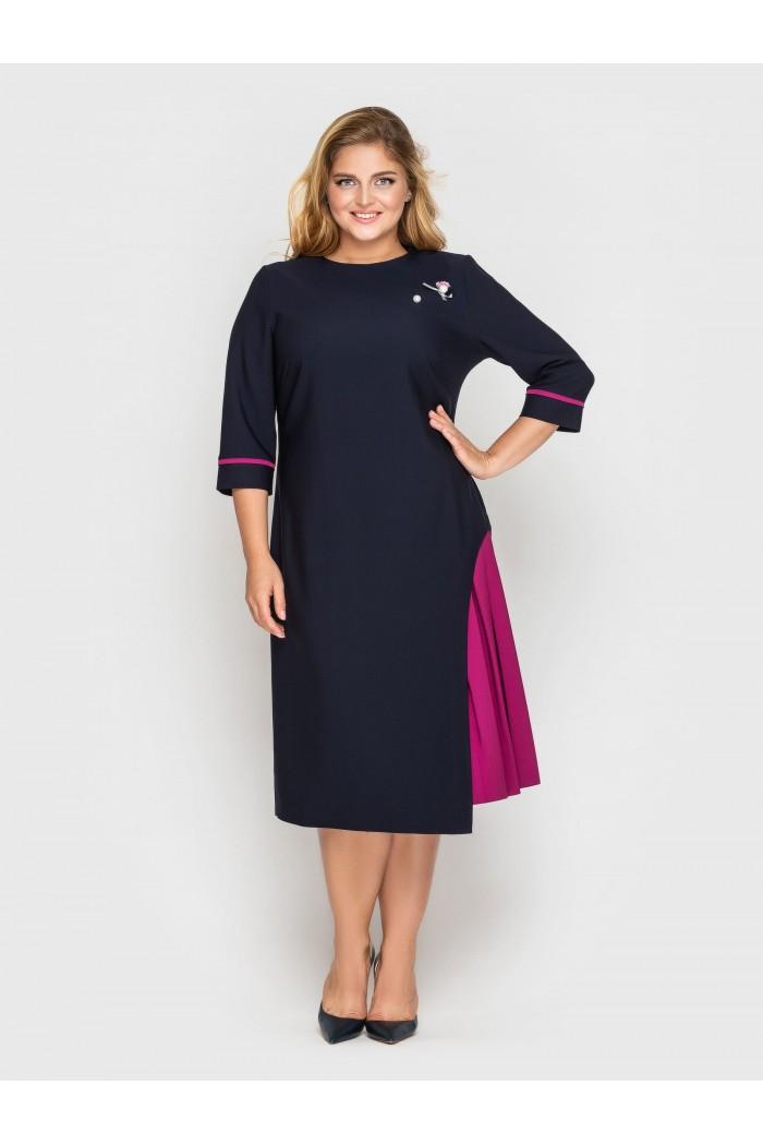 Платье офисное Ванда синее