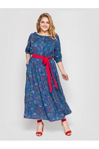 Платье в пол Снежанна деним