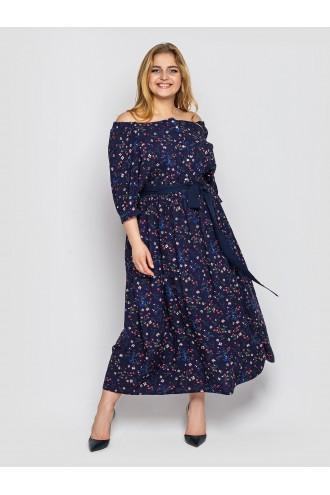 Платье в пол Снежанна синее