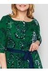 Платье в пол Снежанна зеленое