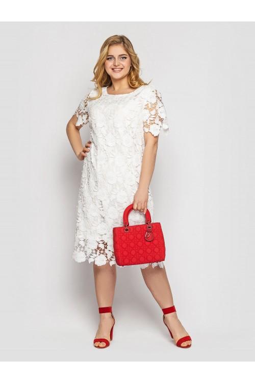 Платье  Элен белое