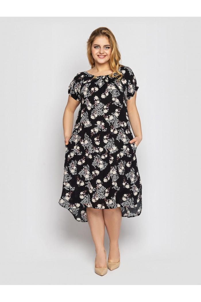 Платье летнее женское Палитра черный
