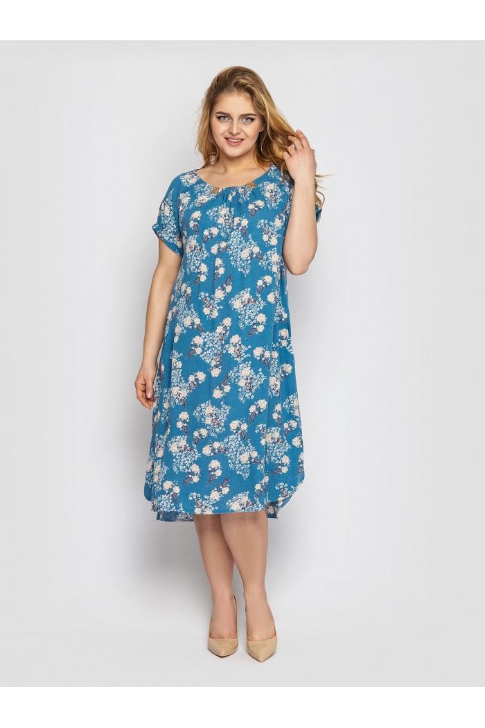 Платье летнее женское Палитра голубое