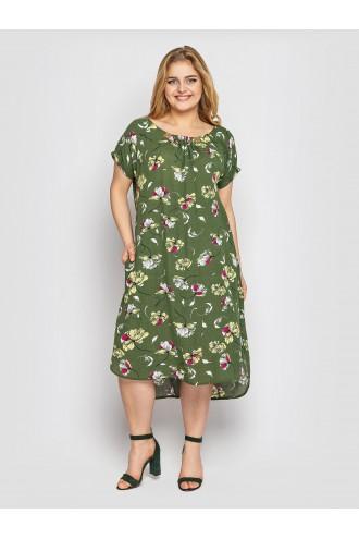 Платье летнее женское Палитра оливка